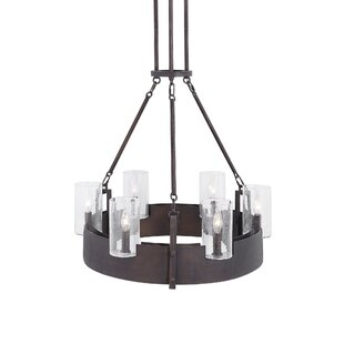Breakwater Bay Ophelia Circular 6-Light LED Wagon Wheel Chandelier