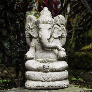 Stone Statues For Garden Garden statues sculptures youll love wayfair volcanic ash powerful ganesha statue workwithnaturefo