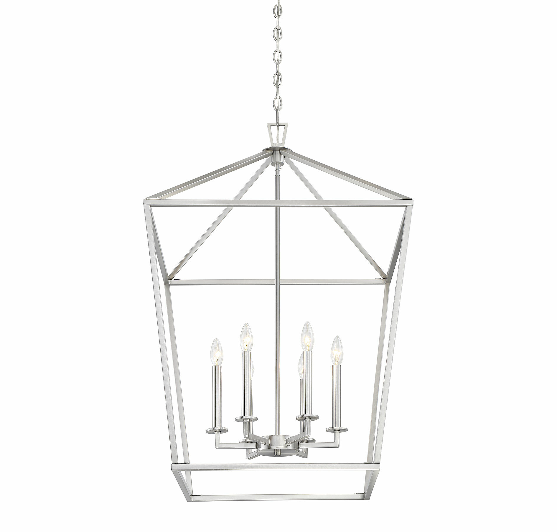 Birch Lane Israel 6 Light Lantern Geometric Chandelier Reviews Wayfair