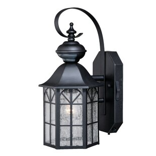 Price comparison Helton Dualux® 1-Light Outdoor Wall Lantern By Alcott Hill