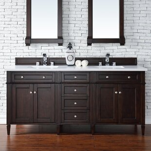 Deleon 72 Double Burnished Mahogany Bathroom Vanity Set by Darby Home Co
