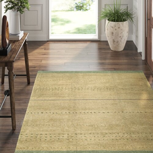 Tufenkian Kaibab Striped Hand Knotted Wool Peppercorn Rug Wayfair