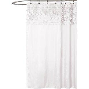 Modern White Shower Curtains