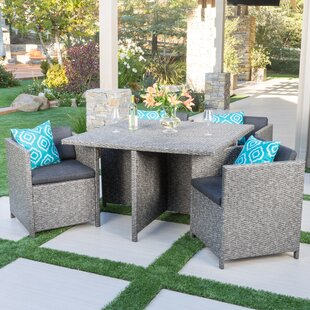 Mercury Row Smail Outdoor 5 Piece Dining Set