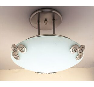 Graford 1-Light Semi Flush Mount by Winston Porter