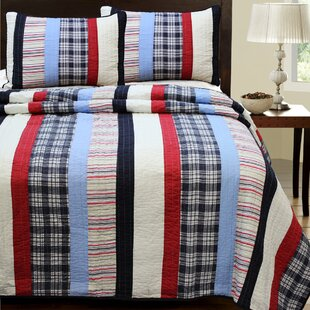 Ronnie Varsity 3 Piece Striped Quilt Set