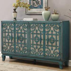 Canonbury Blue Wood Credenza by Bloomsbury Market