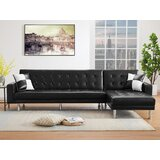 Desarie 119 Wide Faux Leather Reversible Sleeper Sofa & Chaise by Latitude Run®