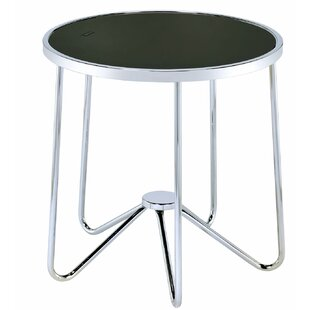 Talamantez Contemporary Round Living Room End Table by Orren Ellis