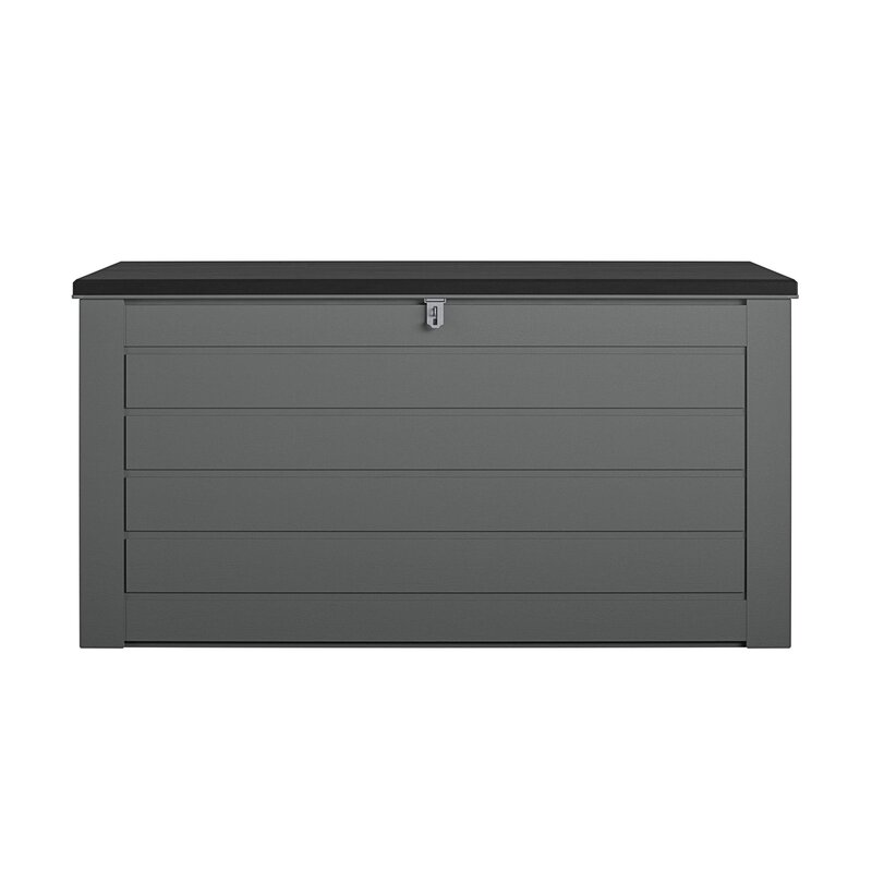 Cosco Home and Office 180 Gallon Water Resistant Plastic Lockable Deck Box in Black/Charcoal