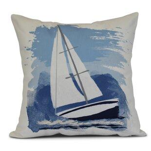 Golden Gate Sailing the Seas Outdoor Throw Pillow