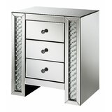Fairgrove 3 Drawer Mirrored Accent Chest by Mercer41