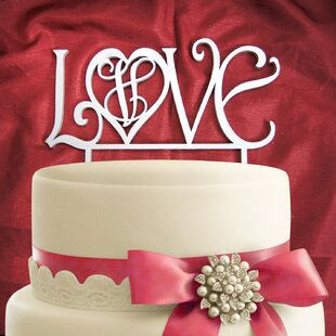 Love Wooden Cake Topper