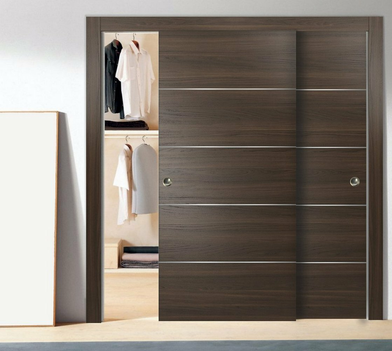 Flush Wood Planum Sliding Closet Doors