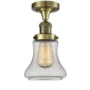 Beachcrest Home Nardone 1-Light Semi Flush Mount