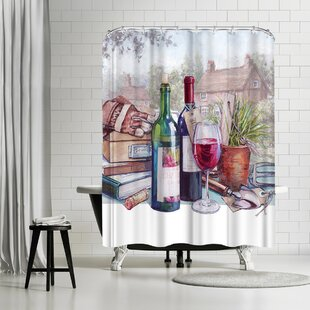 Harrison Ripley A Glass Single Shower Curtain