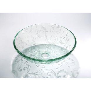 Glass Circular Vessel Bathroom Sink ByLegion Furniture