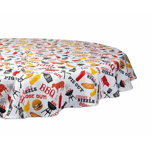 Winchester Bbq Fun Printed Umbrella Outdoor Round Tablecloth