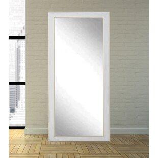 White/Gold Cracked Full Length Wall Mirror ByOne Allium Way