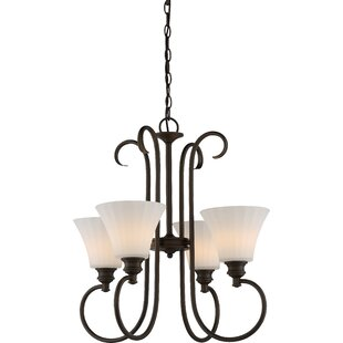 Eich 4-Light LED Shaded Chandelier by Charlton Home