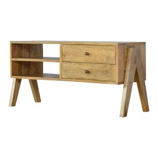 Sadie 2 Drawer Solid Wood TV Stand By George Oliver