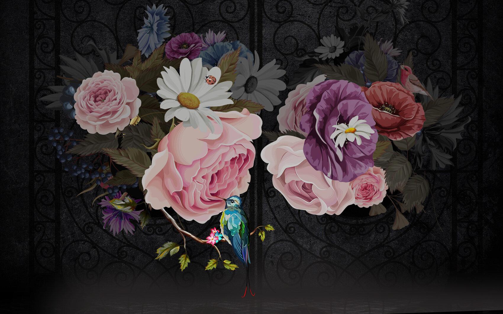 House Of Hampton Stephanie Floral Peony Wall Mural Wayfair