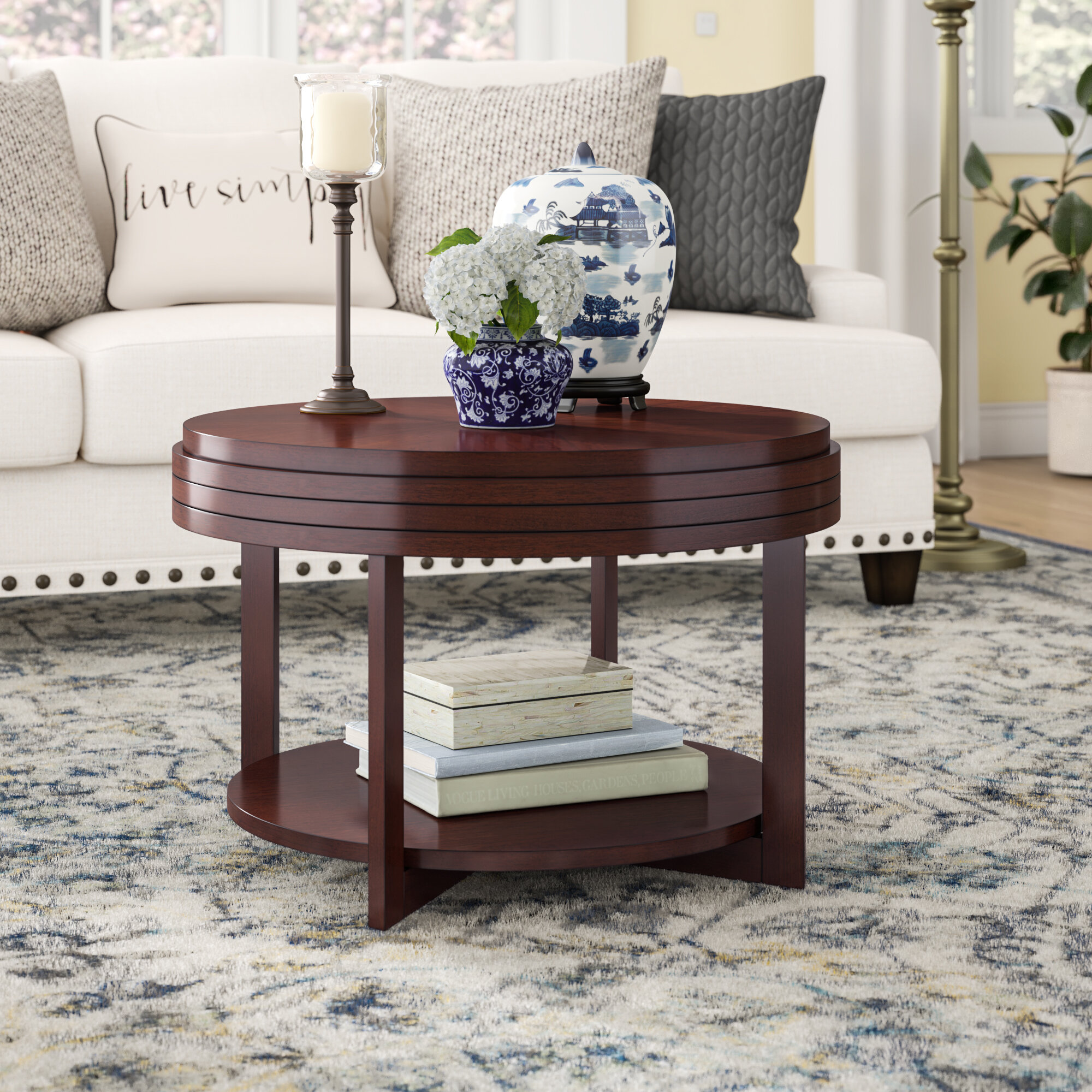 round solid wood coffee tables you ll