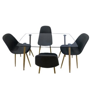 Gillian 5 Piece Dining Set Ivy Bronx
