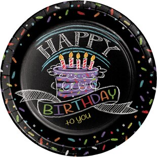 Chalk Birthday Paper Plates (Set of 24)