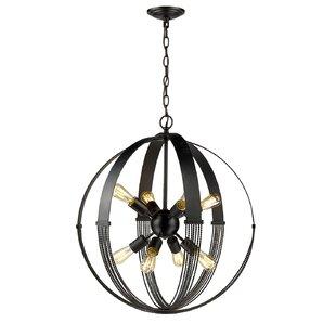 Brayden Studio Branscome 8-Light Globe Chandelier