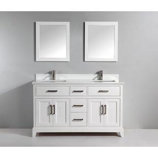 72 Double Bathroom Vanity Set with Mirror by Vanity Art