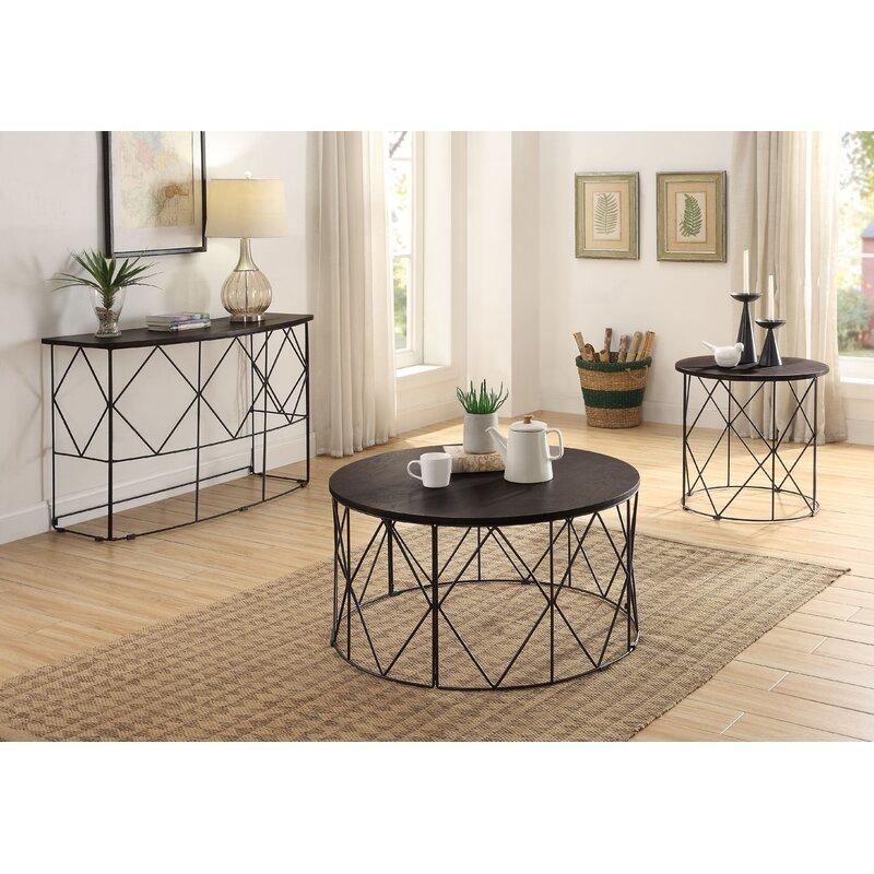 Latitude Run Aksana 3 Piece Coffee Table Set Wayfair