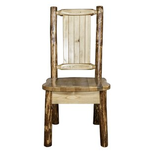 Tustin Engraved Wolf Side Chair by Loon P..