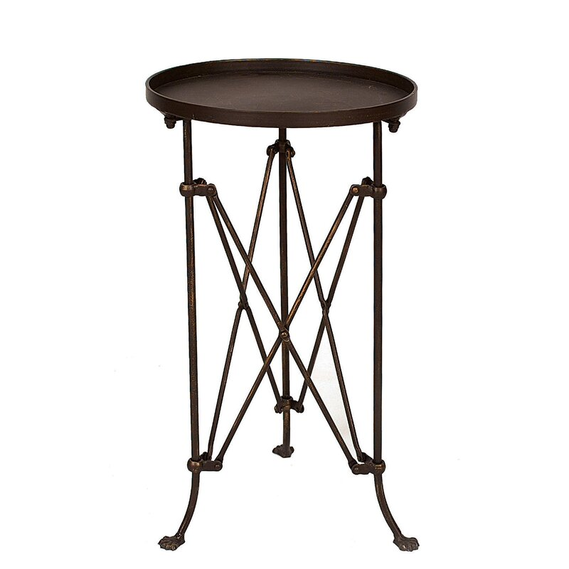 Wachter Pedestal Plant End Table