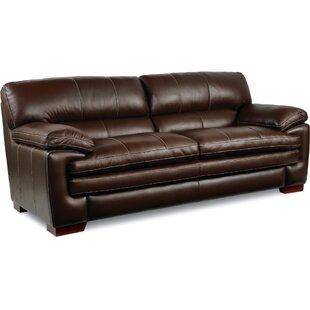 100% Leather Sofa | Wayfair