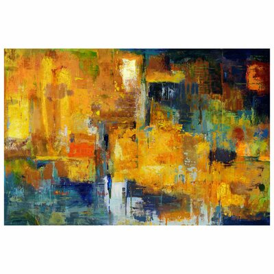 Wrought Studio Wall Décor Sunset Painting Print on Wrapped Canvas