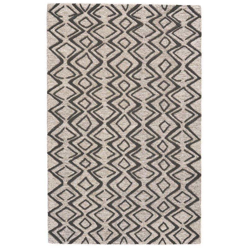 Cunningham Hand Tufted Wool Charcoal Taupe Area Rug