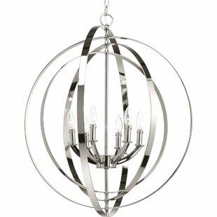 Brayden Studio Dierking 6-Light Globe Chandelier
