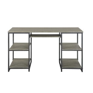 Rea Taupe Two Shelves Computer Desk