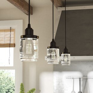 Gracie Oaks Burgess 1-Light Cylinder Pendant