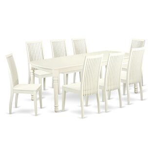 Pimentel 9 Piece Solid Wood Dining Set by August Grove #2