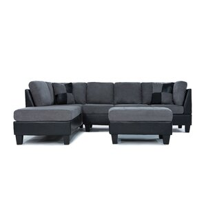 Boshears Reversible Sectional by Mercury Row