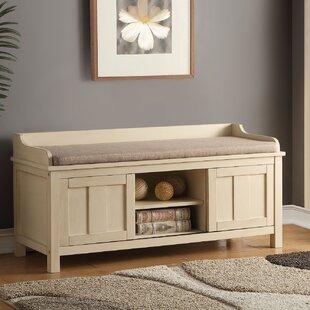 A&J Homes Studio Rosio Wood Storage Bench