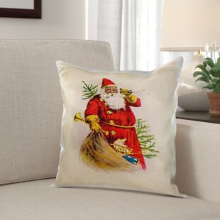Mikels Illustration of African American Santa Claus Pillow Cover