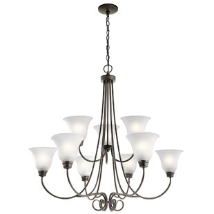 Darby Home Co Bourneville 9-Light Shaded Chandelier