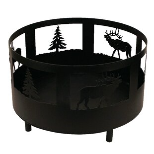 Coast Lamp Mfg. Elk and Tree Scene Metal ..