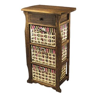 Steiner Classic Countryside Wood Storage 1 Drawer Nightstand