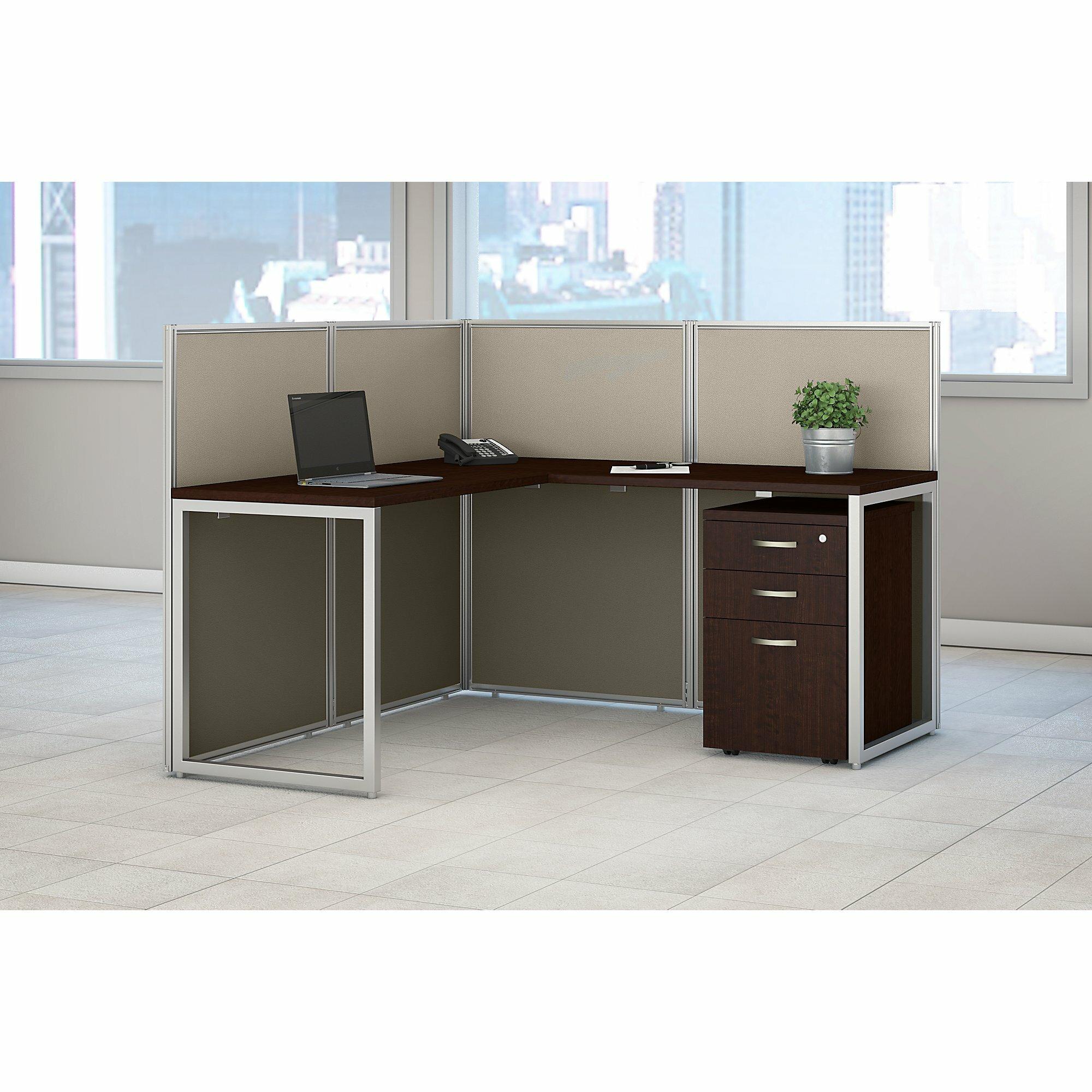 Easy Office L Shaped Open Desk