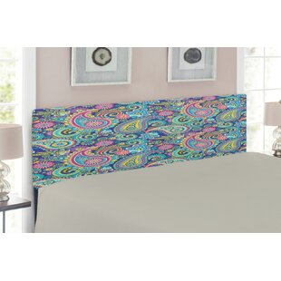 Paisley Upholstered Panel Headboard by