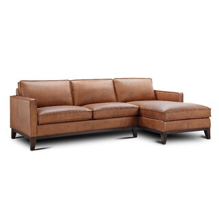 Whitson Leather Right Hand Facing Sectional by Foundry Select SKU:BA766860 Buy